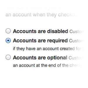 customer accounts settings