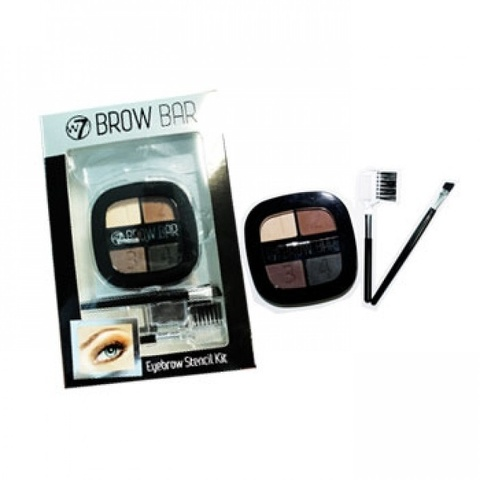 W7 Brow Bar med Stencil Eyebrow Kit