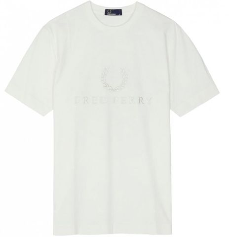 Fred Perry Embroidered Graphic T-Shirt White