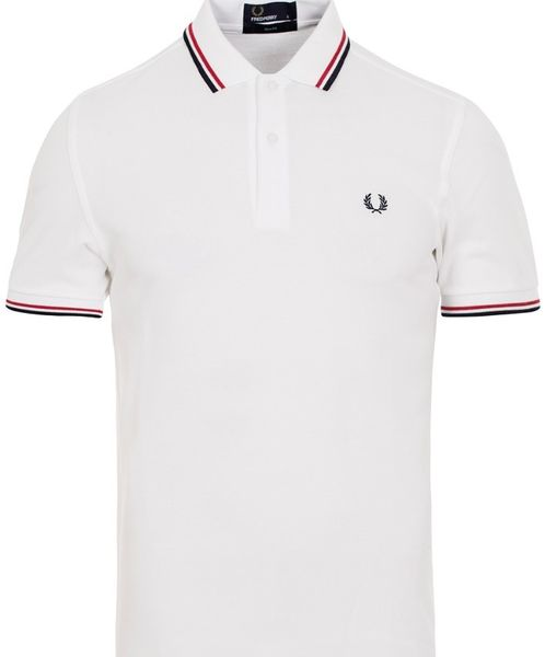 Fred Perry Twin Tipped FP Shirt White