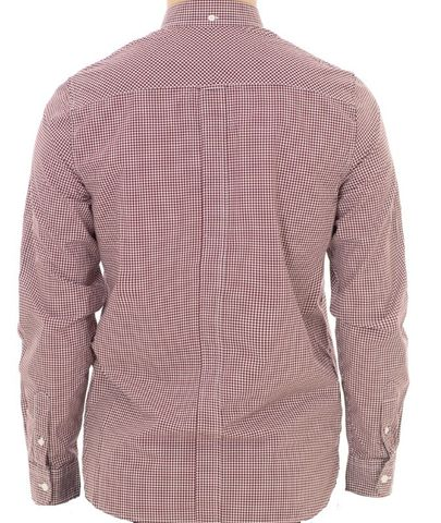Fred Perry Classic Gingham Shirt Medieval Mahogany