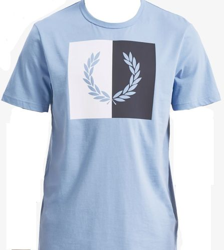 Fred Perry Laurel Wreath T-Shirt Sky Light Blue