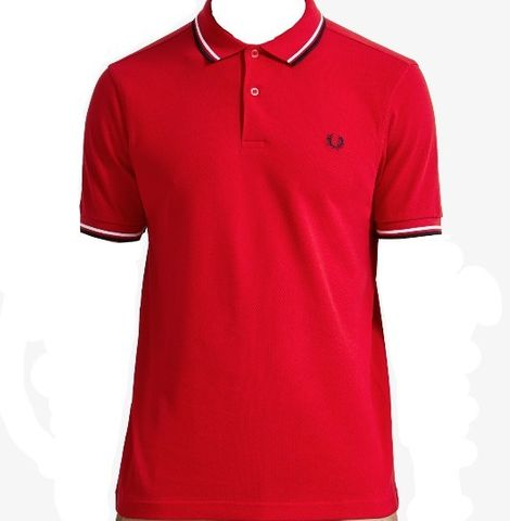 Fred Perry Twin Tipped FP Shirt Red