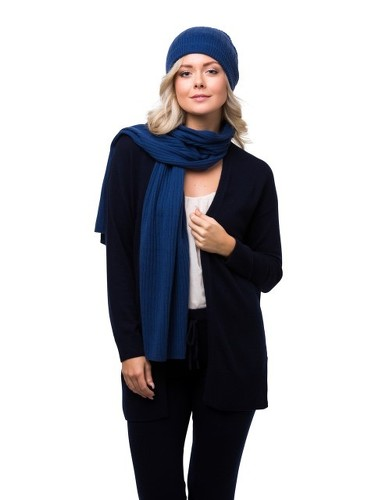 8design Rib Scarf Blue