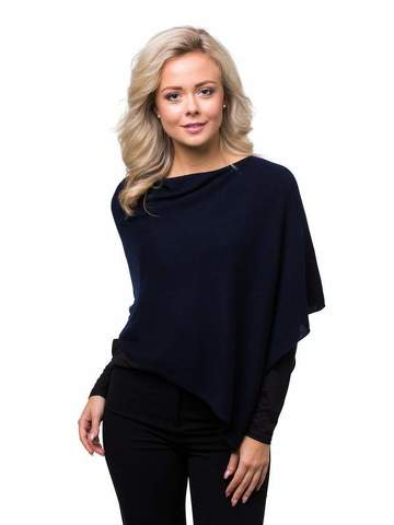 8design Small Poncho Dark Blue