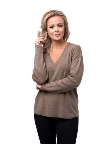 8design V-neck Jumper Beige