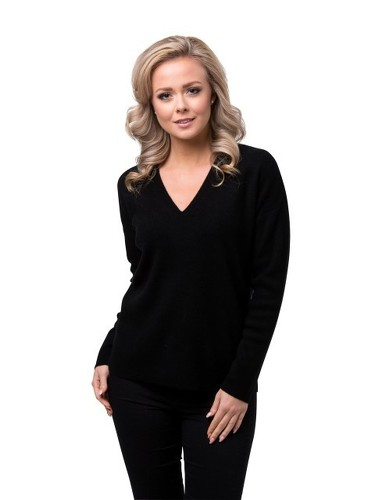 8design V-neck Jumper Black