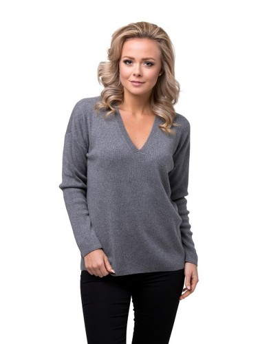 8design V-neck Jumper Grey