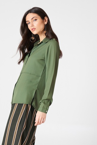 Rut & Circle Penny Shirt Green