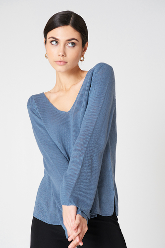 Rut & Circle Vendela Knit Stone Blue